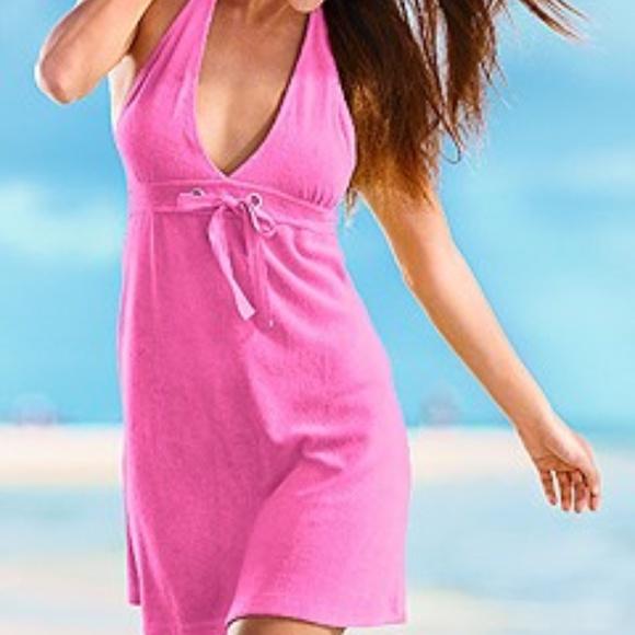 Venus Terry Halter Swim Suit Cover Up Dress